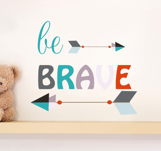 Be Brave Arrow Wall Sticker