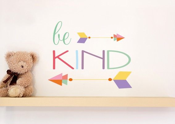 Be Kind Arrow Wall Sticker