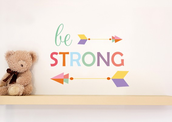 Be Strong Arrow Wall Sticker