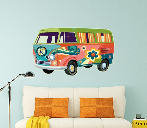 Retro Campervan Wall Sticker