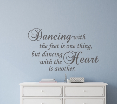 Dancing Heart Wall Decal Sticker