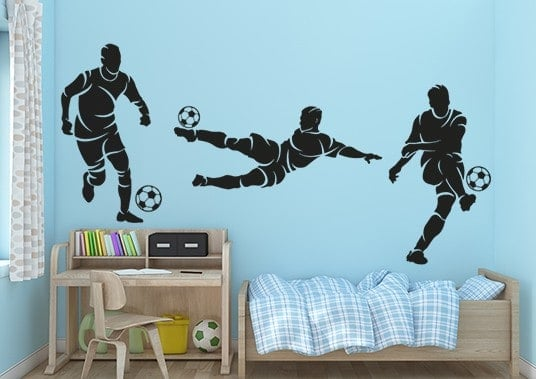 Football Players Wall Decal Sticker