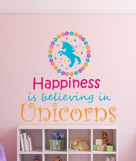 Believe in Unicorns Wall Sticker