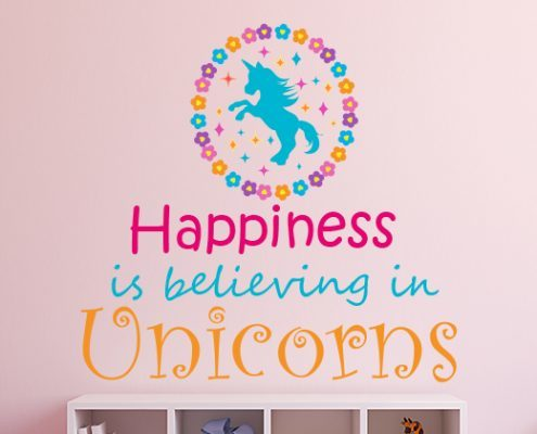 Believe in Unicorns Wall Sticker