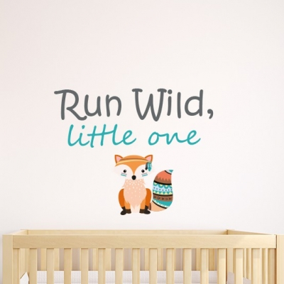 Run Wild Little One Wall Sticker