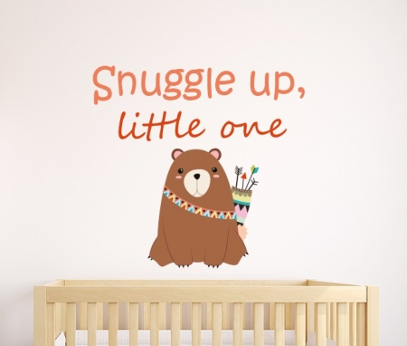 Snuggle Up Little One Wall Sticker