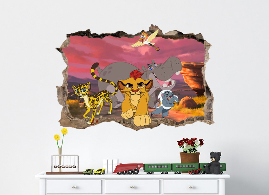 The Lion Guard 3d Smashed Wall Sticker