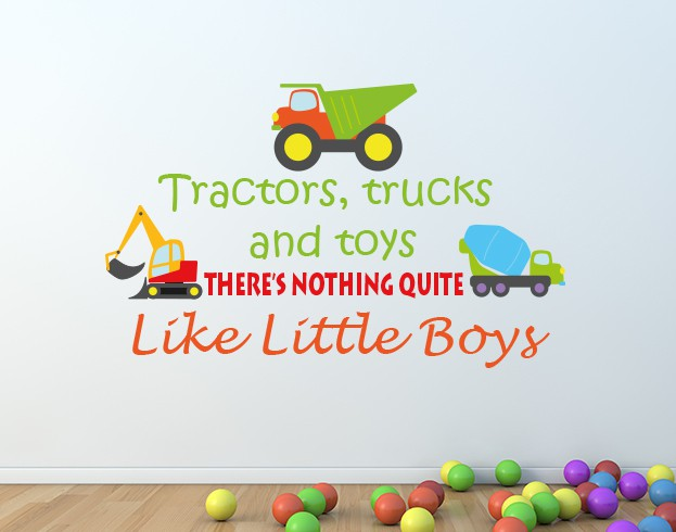 Tractors, Trucks and Toys Wall Sticker