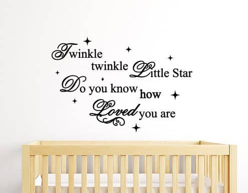 Twinkle Twinkle How Loved You Are Wall Sticker