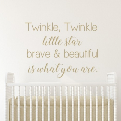 Twinkle Twinkle Brave & Beautiful Wall Sticker