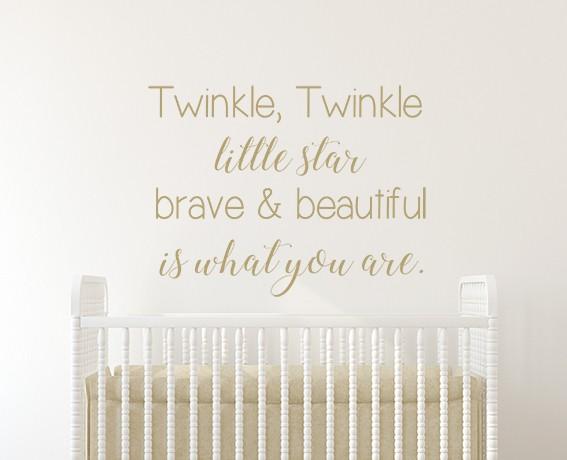 Twinkle Twinkle Brave & Beautiful Wall Sticker