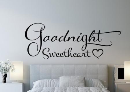 Goodnight Sweetheart Wall Decal Sticker