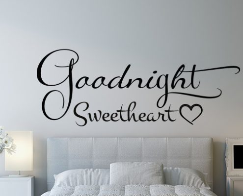 Goodnight Sweetheart Wall Decal Sticker