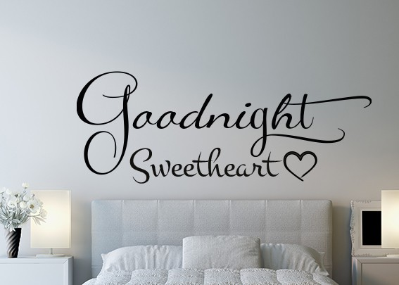 Goodnight Sweetheart Wall Decal Sticker By Eydecals