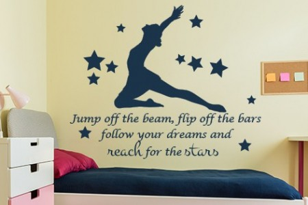 Jump the Beam Reach for the Stars Wall Decal