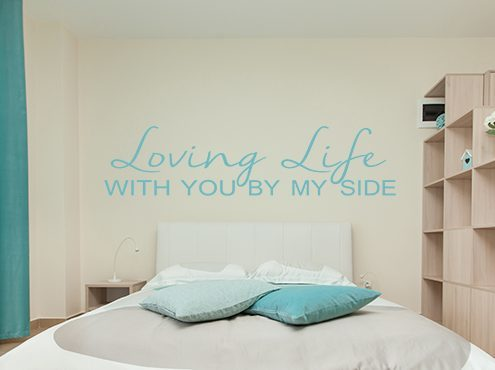 Loving Life Wall Decal Sticker