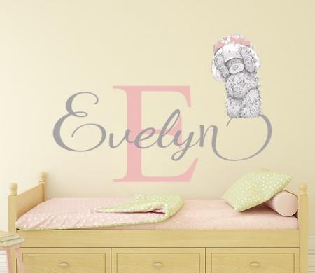 Tatty Teddy Name Wall Sticker
