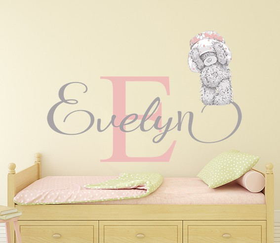 personalised tatty teddy name wall stickereydecals