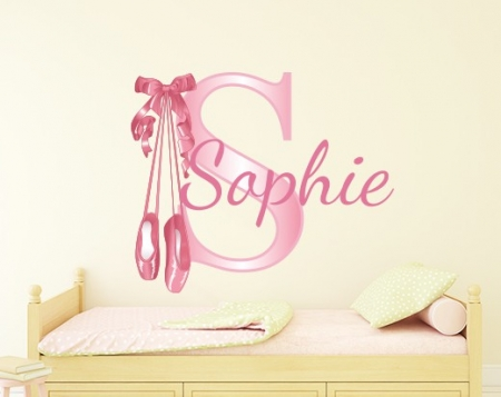 Personalised Ballerina Name Wall Decal