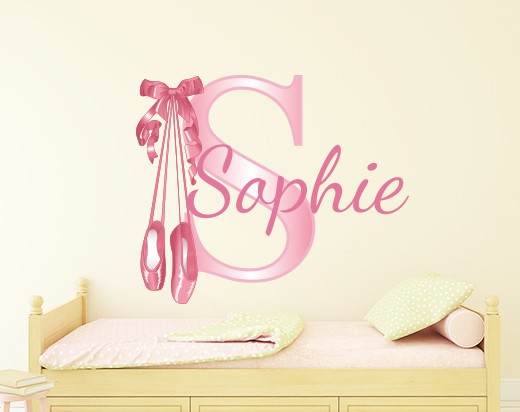 Personalised Ballerina Name Wall Decal by eydecals ce7d5be93fb6