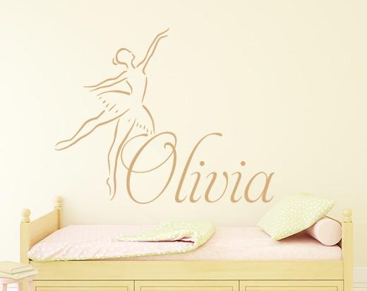 Ballerina Name Wall Decal Sticker