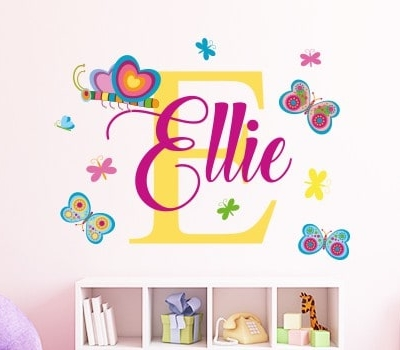 Personalised Caterpillar Butterfly Name Wall Sticker