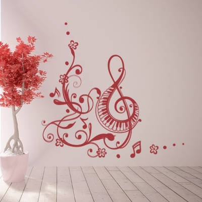 Music Note Design Wall Decal