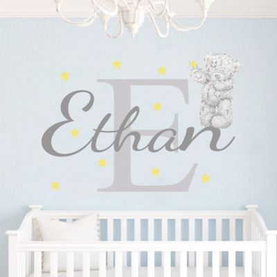 personalised tatty teddy name wall sticker by eydecals l me 2 you tatty teddy bear personalised bedroom vinyl