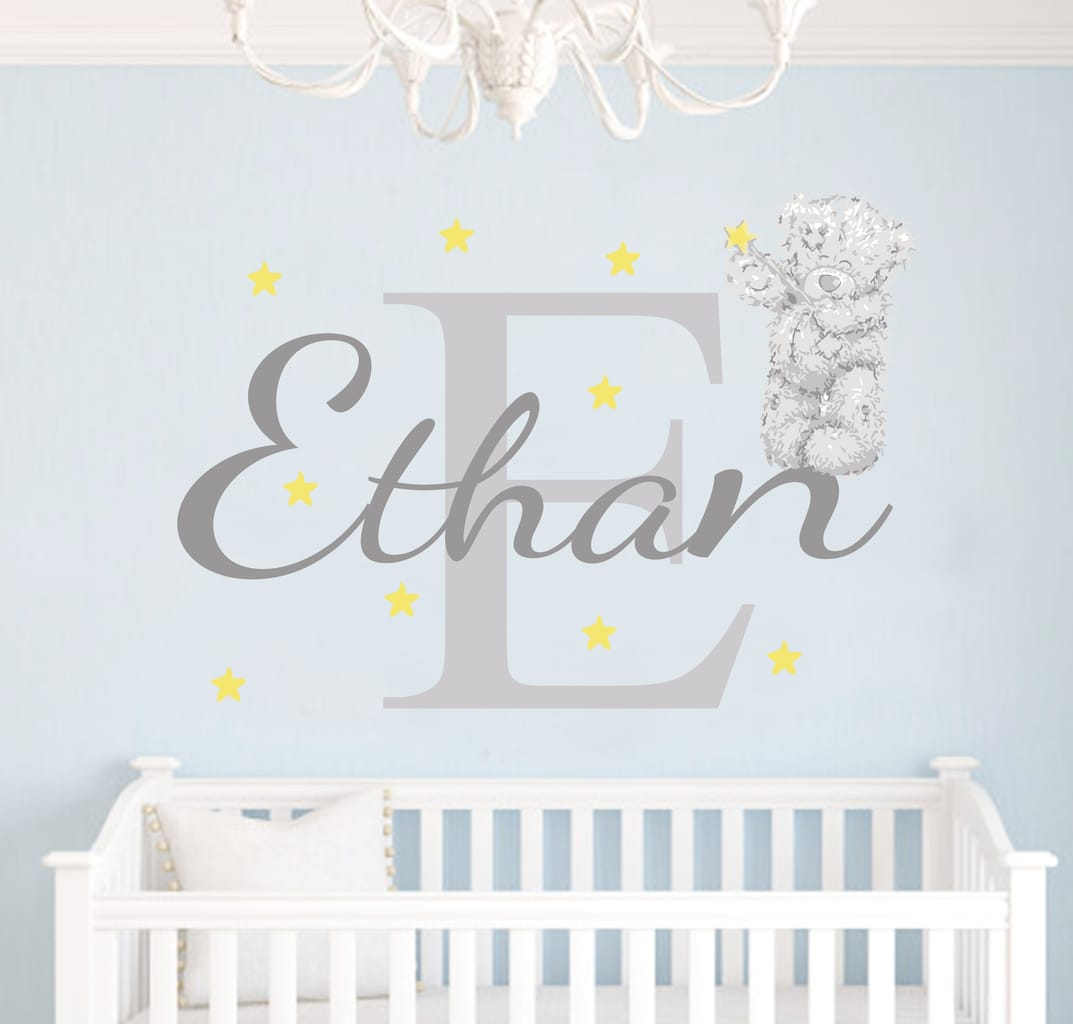 Personalised tatty teddy name wall sticker by eydecals tatty teddy name wall sticker amipublicfo Images