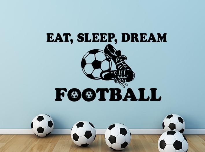 Eat, Sleep, Dream Football Wall Decal