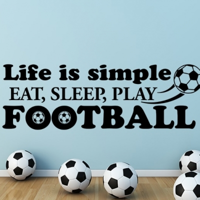 Eat, Sleep, Play Football Wall Decal
