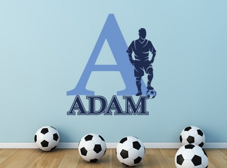 Personalised Football Name Wall Sticker