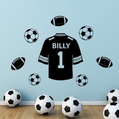 Football Shirt Personalised Wall Decal