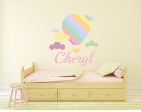 Hot Air Balloon Name Wall Sticker