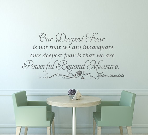 Powerful Beyond Measure Wall Decal Sticker