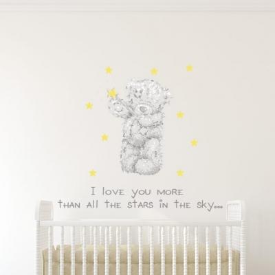 Tatty Teddy Stars Wall Sticker