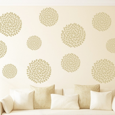 Delilah flower Decal Set