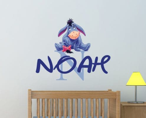 Personalised Name Eeyore Wall Decal