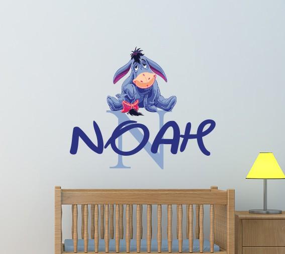 Personalised Name Eeyore Wall Decal