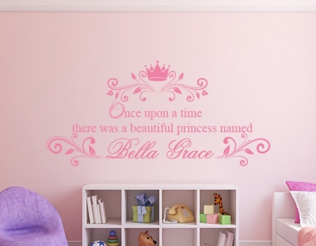 Once Upon a Time Personalised Wall Decal