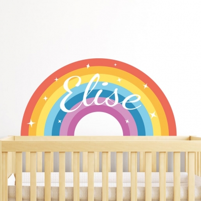 Rainbow Name Wall Sticker