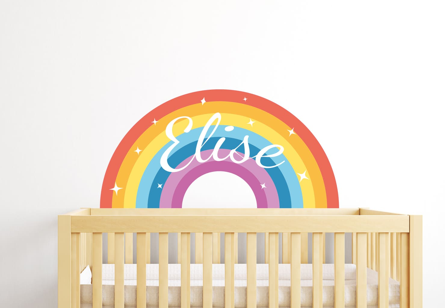 This Rainbow Name Wall Sticker is awesome way to to make your kids ...