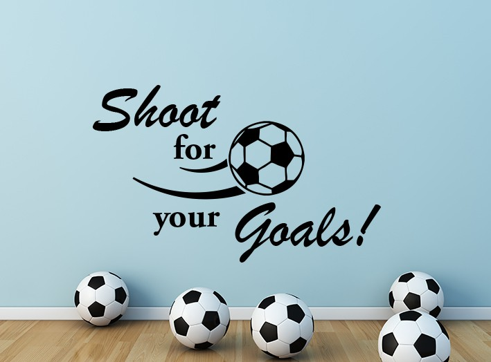 Shoot For Your Goals Wall Decal