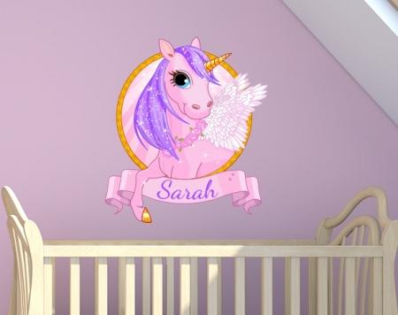 Unicorn Name Wall Sticker
