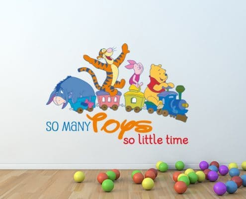 Winnie the Pooh Toys Wall Decal