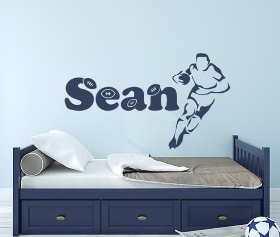 Rugby Name Wall Decal Sticker