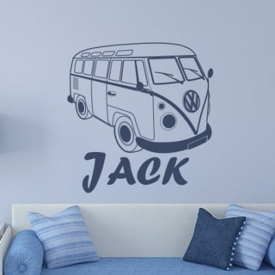 VW Campervan Name Wall Decal