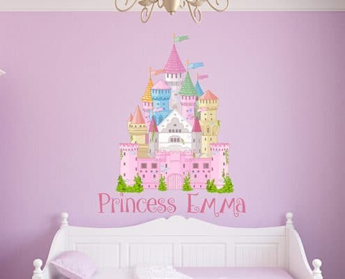 Princess Castle Name Wall Decal