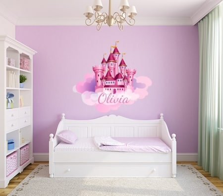 Princess Castle Name Wall Decal Sticker