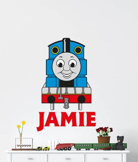 Thomas The Tank Engine Name Wall Decal